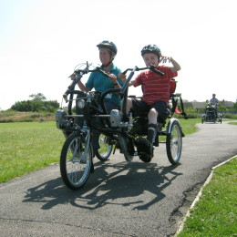 Adapted bike ride with parent and child listing