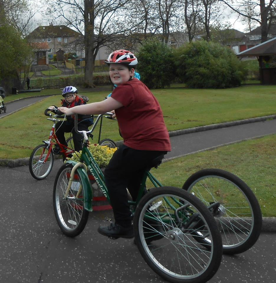 Photo of adapted cycling in Fife