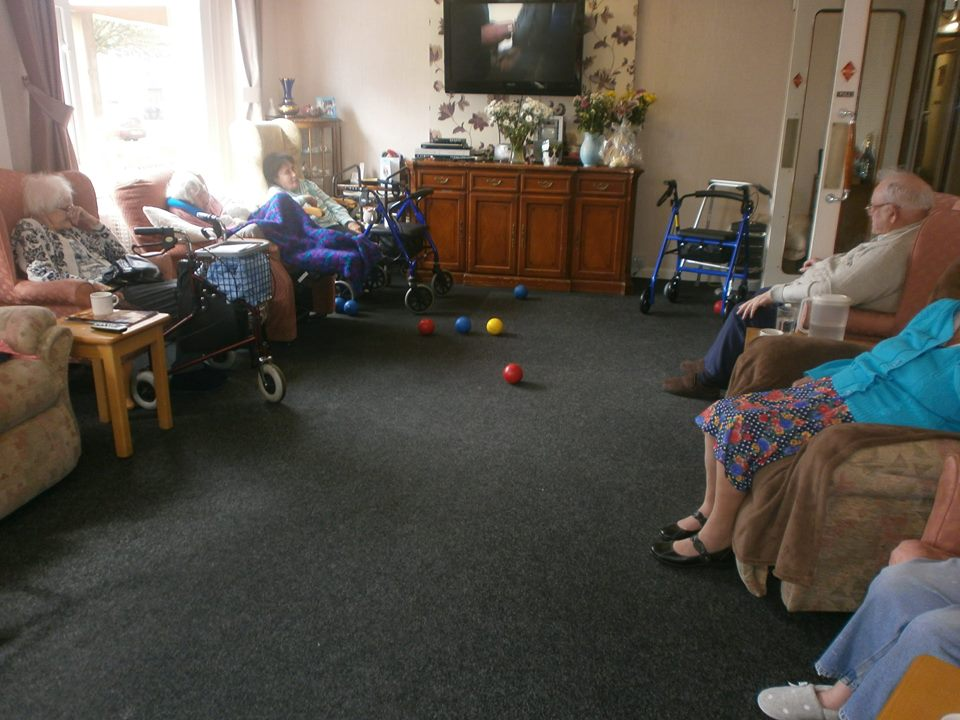 Photo showing older people in Lincolnshire bowling