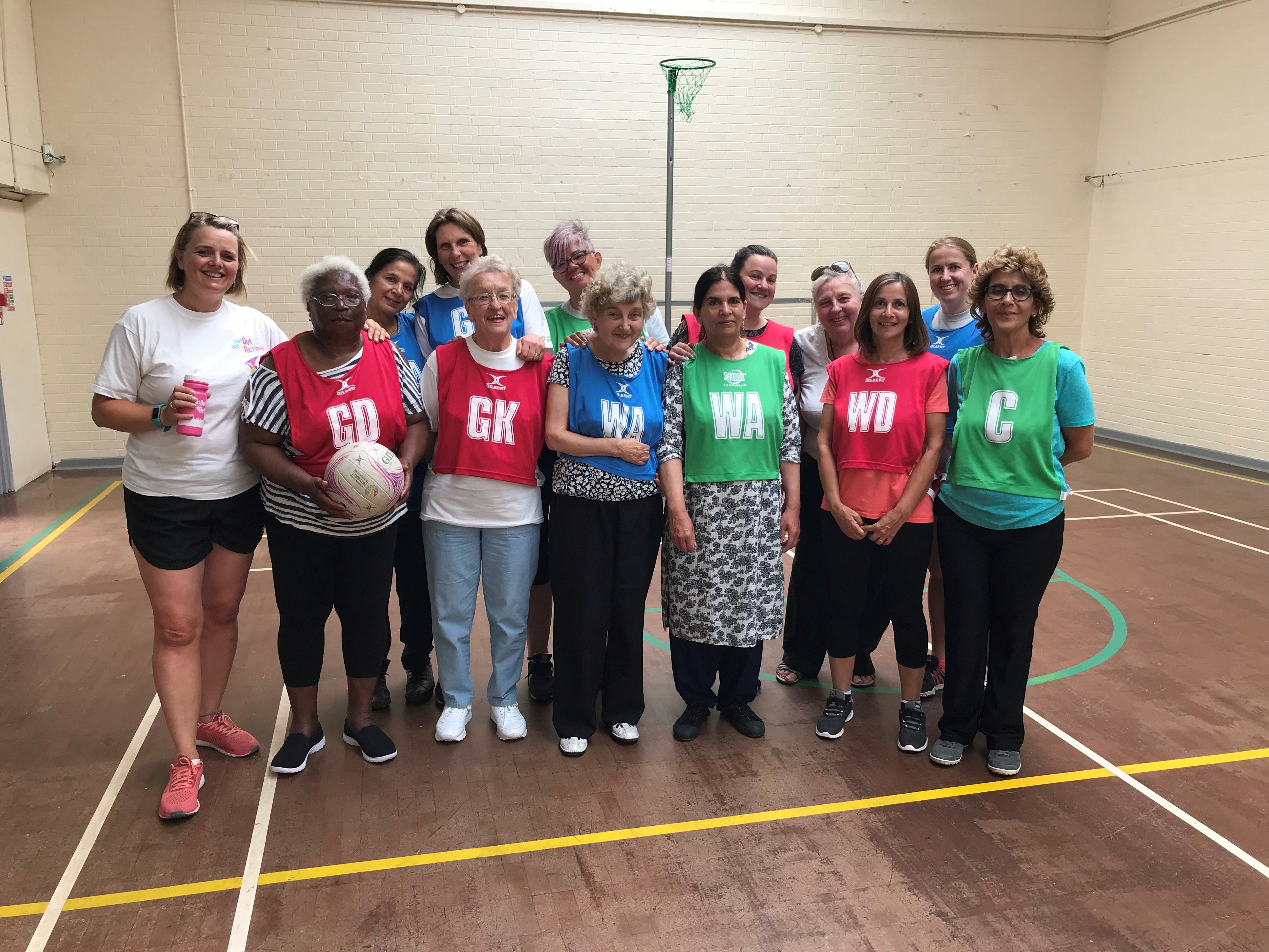 Photo of the Nottingham Walking Netball Group